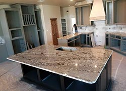 How about this island the guys set today - Oklahoma City, OK The Granite Shop OK