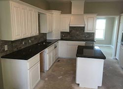 Oklahoma granite kitchen white cabinets Dark Granite - Shawnee Shawnee