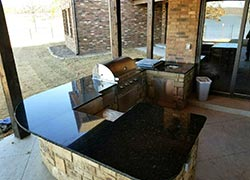 Oklahoma outdoor granite kitchen Dark Granite - Shawnee Shawnee